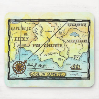 South Faerie Fantasy Map Mouse Pad