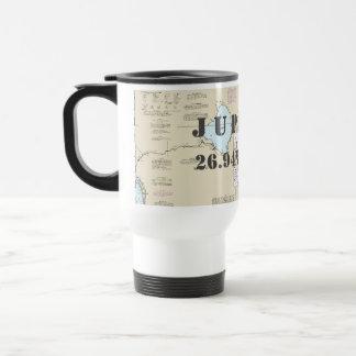 South Florida Latitude Longitude Nautical Chart Travel Mug