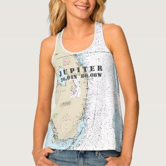 South Florida Latitude & Longitude Nautical Tank Top