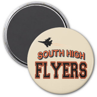 """SOUTH  FLYERS   3"""" round magnet"""