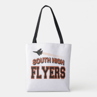 SOUTH  FLYERS   two sided tote bag