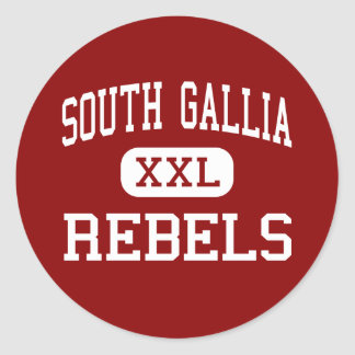 South Gallia - Rebels - High - Crown City Ohio Classic Round Sticker
