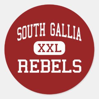 South Gallia - Rebels - High - Crown City Ohio Round Sticker