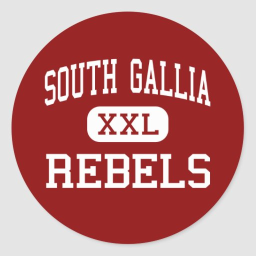 South Gallia - Rebels - High - Crown City Ohio Stickers