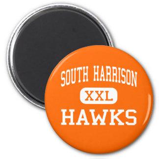 South Harrison - Hawks - High - Lost Creek Fridge Magnets