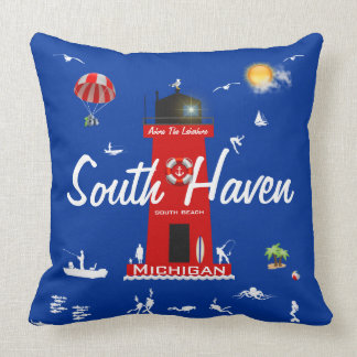 South Haven - Adore The Lakeshore Throw Pillow