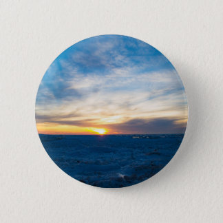 South Haven Lighthouse Frozen Lake Michigan 2 Inch Round Button