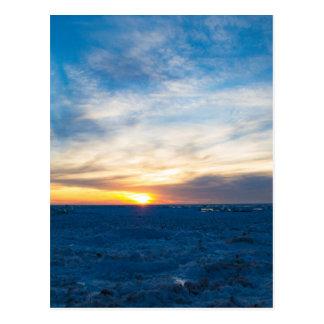 South Haven Lighthouse Frozen Lake Michigan Postcard