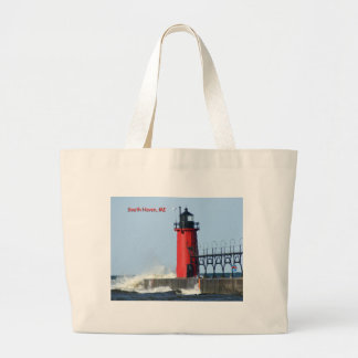 South Haven Lighthouse Large Tote Bag