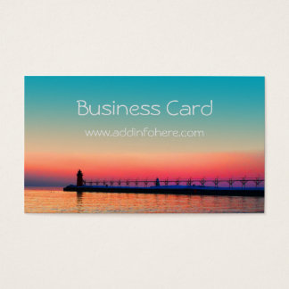 South Haven Mi Lighthouse Business Cards