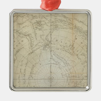 South Hemisphere Metal Ornament