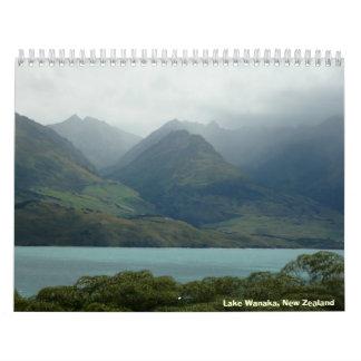South Island, New Zealand Calendar