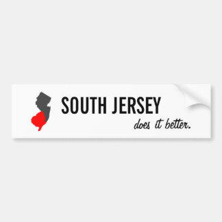 """South Jersey Does it Better"" NJ Bumper Sticker"