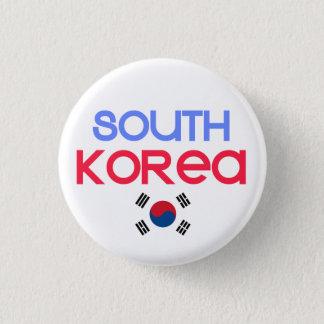 South Korea and a (south korean flag) 1 Inch Round Button