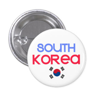 South Korea and a (south korean flag) 1 Inch Round Button
