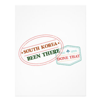 South Korea Been There Done That Letterhead Template