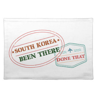 South Korea Been There Done That Placemat