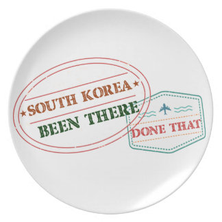 South Korea Been There Done That Plate
