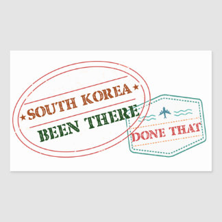 South Korea Been There Done That Sticker