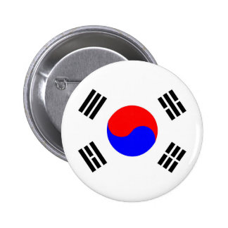 south korea country flag nation symbol 2 inch round button