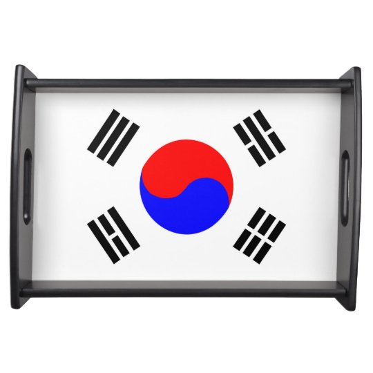 south korea country flag nation symbol serving tray