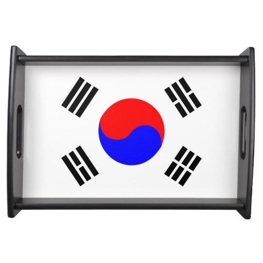 south korea country flag nation symbol serving trays