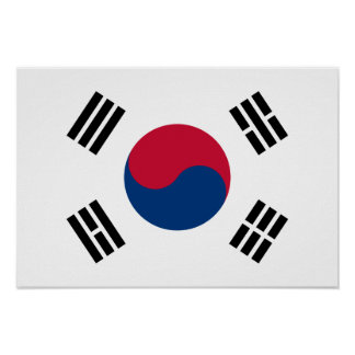 South Korea Country Flag Poster