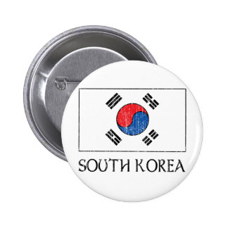 South Korea Flag 2 Inch Round Button