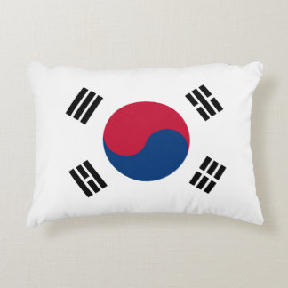 South Korea Flag Accent Pillow