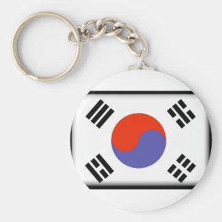 South Korea Flag Basic Round Button Keychain