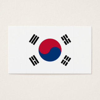 South Korea Flag Business Card