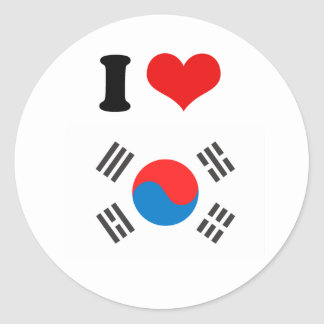 South Korea Flag Classic Round Sticker