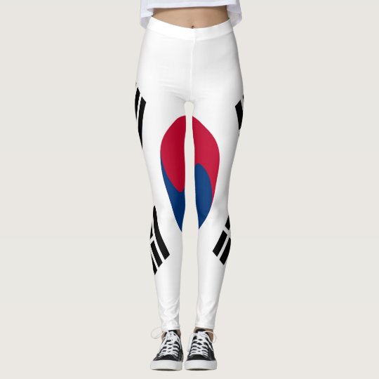 South Korea Flag full Leggings