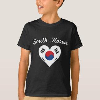South Korea Flag Heart T-Shirt