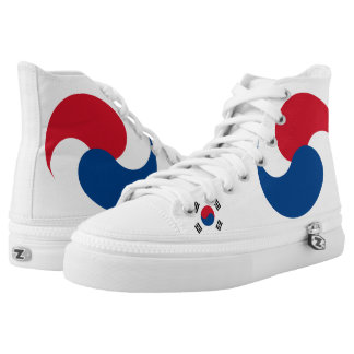 South Korea Flag High Tops