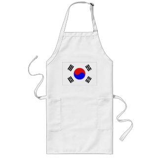 South Korea Flag Long Apron