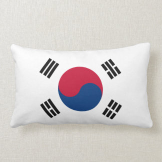 South Korea Flag Lumbar Pillow