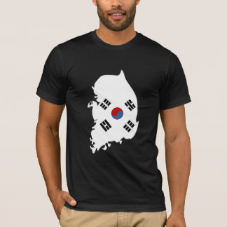 South Korea Flag Map full size T-Shirt