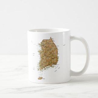 South Korea Flag ~ Map Mug