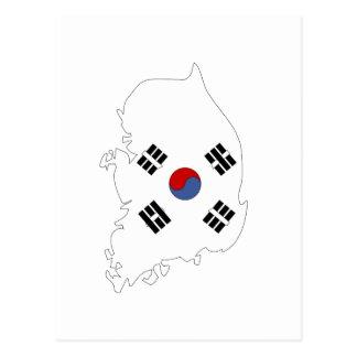 South Korea flag map Postcard
