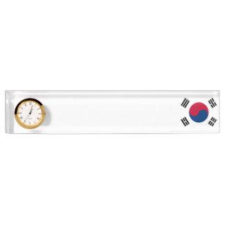 South Korea Flag Nameplate