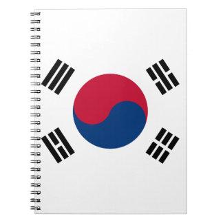 South Korea Flag Notebooks