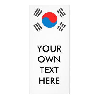 South Korea Flag Rack Card