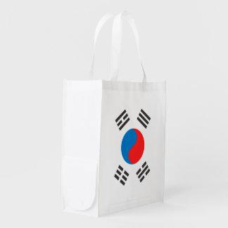 South Korea Flag Reusable Grocery Bag