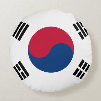 South Korea Flag Round Pillow
