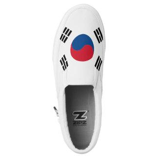 South Korea Flag Slip-On Sneakers