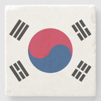 South Korea Flag Stone Coaster