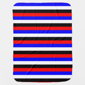 South Korea flag stripes lines colors pattern Baby Blanket