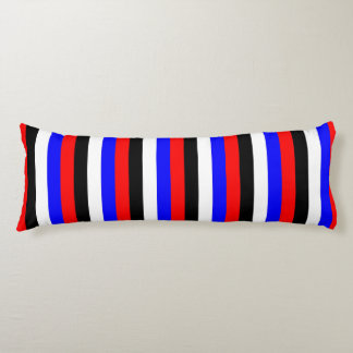 South Korea flag stripes lines colors pattern Body Pillow