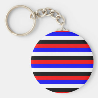 South Korea flag stripes lines colors pattern Keychain